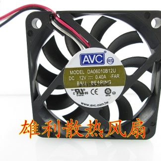 Wholesale Original AVC DA06010B12U DC 12V 0.40A 6CM 6010 3 wire dual ball bearing cooling fan