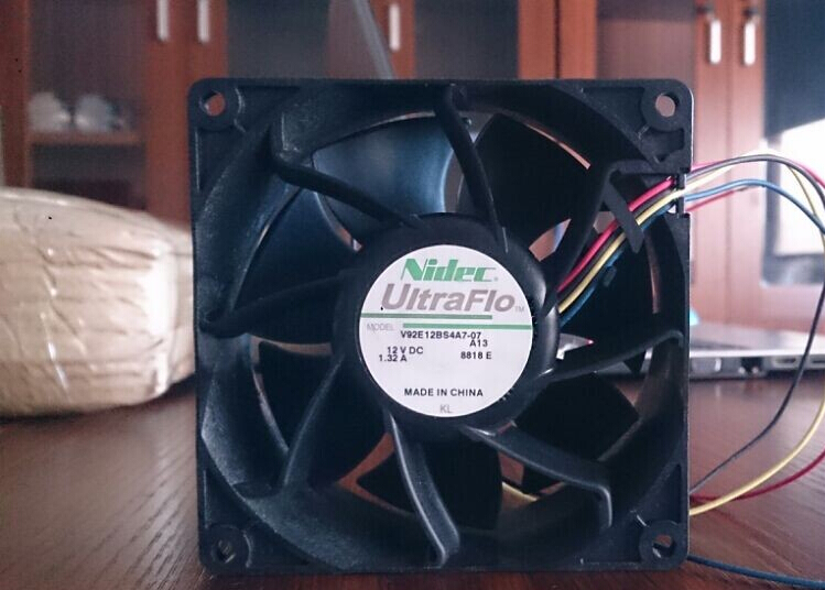 Wholesale: T350G7 NIDEC 9238 12V 1 32A V92E12BS4A7-07 chassis fan fan