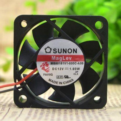 SUNON 5CM 5015 1.60W MB50151V1-000C-A99 DC 12V 2-wire cooling fan