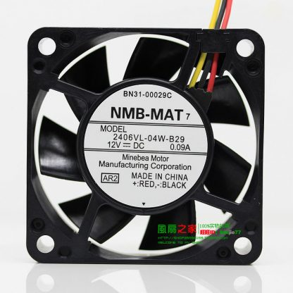 NEW NMB-MAT Minebea 2406VL-04W-B29 6015 Double Ball bearing 6CM cooling fan