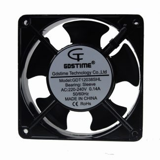 2Pcs Gdstime Metal 120mm 12cm 120mm x 38mm Sleeve AC 220V 240V Cooling Fan