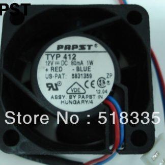 Papst typ412 412 40x40x20 mm 4020 12v 1w silent fan