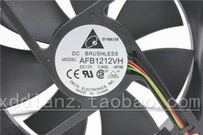 New original 12025 12V 0.6A AFB1212VH 12CM four-wire PWM chassis cooling fan