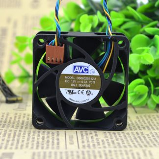 AVC DS06025B12U 60mm 6cm 60*60*25mm DC 12V 0.70A 5200RPM PWM Double ball Bearing server inverter axial cooling fan