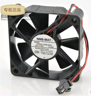 Wholesale: original 2406GL-05W-B50 24V 0.A NMB60*60*15 2 wire cooling fan chassis power radiator