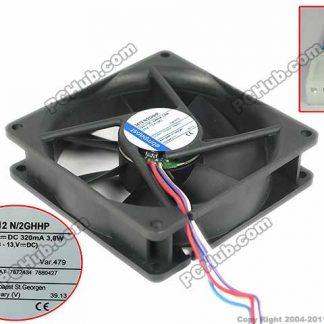 ebm-papst 3412N/2GHHP Server Square Cooling Fan DC 12V 3.8W 92x92x25mm 4-wire