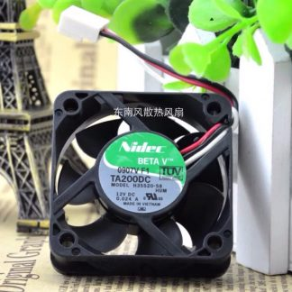 Free Shipping Original NIDEC 5015 DC 12V 0.024A 3Wire server inverter computer cpu case axial Cooling Fan