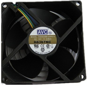 AVC fan 9CM 4PIN temperature controlled speed chassis fan DS09238B12HP-013