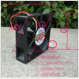 Avc 70 DA07B12M dual ball silent fan temperature resistance