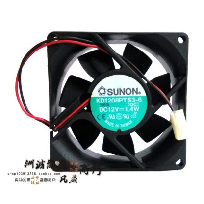 Original SUNON KD18PTS3-6 12V 1.4W 8CM 8025 80 * 80 * 25 2-wire power, the chassis fan