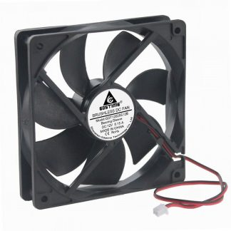 100pcs Gdstime DC 12V 2Pin 1x1x25mm 12cm 5 inches Brushless Cooler 0.15A Cooling Fan 1mm x 25mm Wholesale
