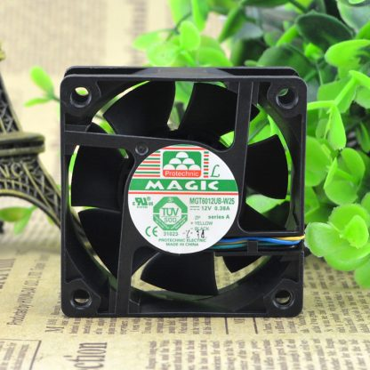 Free Delivery. MGT6012UB - W25 DC12V 0.38 A four-wire double ball bearing fan