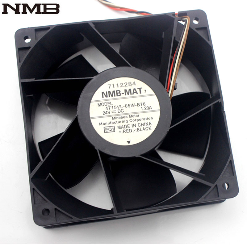 NMB 4715VL-05W-B76 12038 120*120*38mm 12CM 24V 1.20A inverter cooling fan