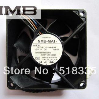 NMB 3110RL-04W-B86 fan 8025 12V 0.65A 406016-001 server inverter cooling fan