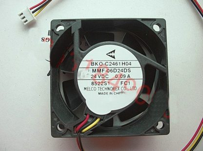 New Original Nidec Inverter fan for Mitsubishi BKO-C2461H04 MMF-06D24DS FC1 24V 0.09A 60*60*25MM