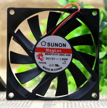 SUNON 8CM 8015 DC 12V ME80151V1-000C-A99 1.96W 2-line Ultra Thin Mute Radiator Cooling Fan