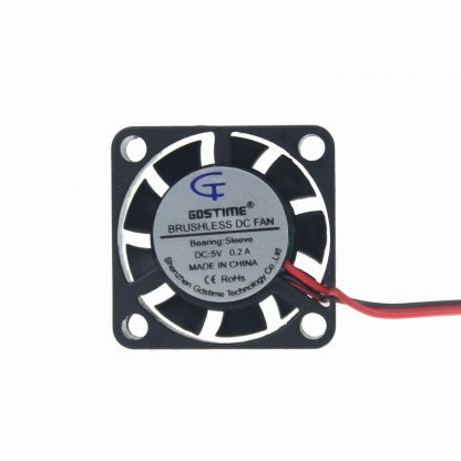 Gdstime 2 Pieces 5V 5 Volt 25mm 7mm 25x25x7mm 2507S Small Micro Blushless DC Cooling Fan 2pin 2.0