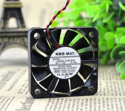 The original NMB 04KL-01W-B30 50*50*10 5CM 5V 0.14A 5 cm 2 line cooling fan