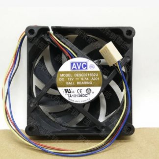 Wholesale: AVC 12V 70*70* DESC0715B2U 0.7A 4 wire temperature controlled ball large air CPU fan