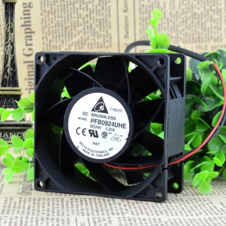Free Delivery. New PFB0924UHE DC24V 1.22 A DELTA 92 * 92 * 38 converter cooling fan