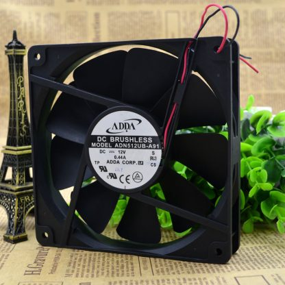 Free Delivery. 13525 ADN512UB A91-135 * 135 * 25 mm 12 v double ball bearing cooling fans