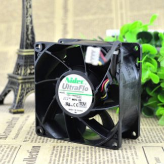 NIDEC 80*80*38 12V 1.5A V80E12BS2A7-07 8CM PWM four wire temperature air fan