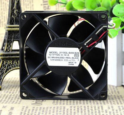 Genuine NMB 3110GL-B4W-B29 12V 0.14A 8CM 8025 3 lines radiating fan