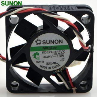 Original SUNON KDE2404PFVX 40*40*10 24V 1.9W 4cm three wire silent power computer inverter cooling fan