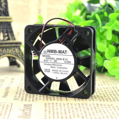 NMB 2406KL-09W-B10 6015 42V 0.05A 6CM 2 wire cooling fan 60X60X15MM