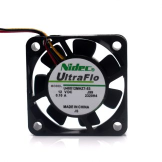 NIDEC U40X12MHZ7-53 4010 40mm 4cm DC 12V 0.1A NBR bearing axial cooling fan