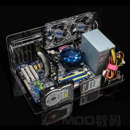 DIY Desktop acrylic rack water cooling standard ATX transparent Computer Cases Towers case Horizontal main chassis