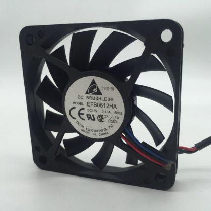 Delta EFB0612HA 6010 6CM 60x60x10mm DC 12V 0.18A 3-pin PC Case Cpu Server Inverter Axial Blowercooling Fan