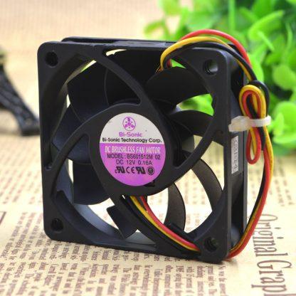 Original BI-SONIC BS601512M 6015 12V 0.16A 6CM 3 wire cooling fan 60X60X15MM