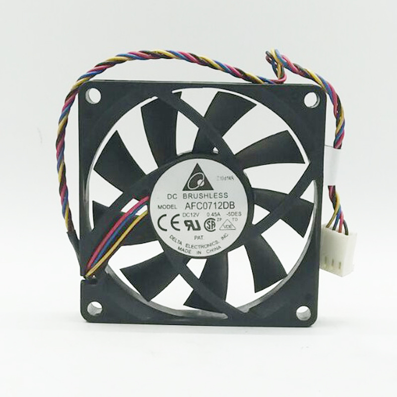 Delta AFC0712DB 7015 70*70*15MM DC 12V 0.45A 7CM 4-pin PWM Computer CPU Axial Cooling Fan
