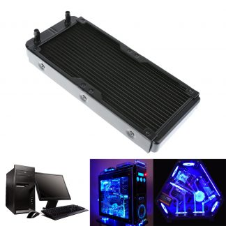 Water Cooling 240mm 18 Tubes Aluminum Radiator with Screws Heat Sink Part Exchanger CPU Heat Sink For Laptop Desktop Computer