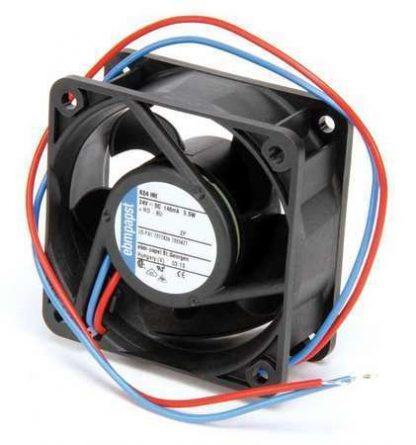 "Ebm-Papst 2-1/3"" Square Axial Fan 24VDC 624HH"