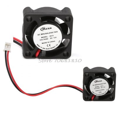 Mini DC 12V Brushless Cooling Fan 25mm 25*25x10mm 2510S Cooler Heatsink 2510Drop Shipping