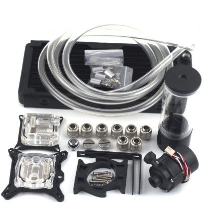 New water cooling head water colling set 240B radiator + SC600 pump + 140mm tank + 2M tube + CPU / GPU Block with total fitting