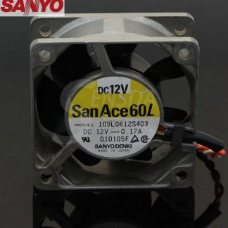 SANYO 109L0612S403 6025 60mm 6cm DC 12V metal frame server inverter axial cooling fans
