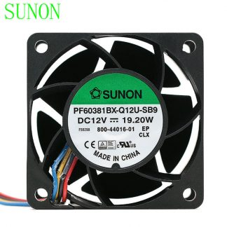 Original Sunon PF60381BX-Q12U-SB9 60*60*38mm DC12V 19.W 1.6A 56DBA powerful axial cooling fan