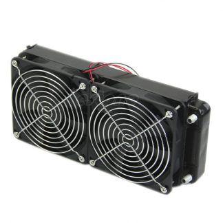 2 x 1 fan 240MM Aluminum Computer Cooler Small Cooling Fan PC Black Heat Sink, Computer Water Cooling Radiator Cooler Fan