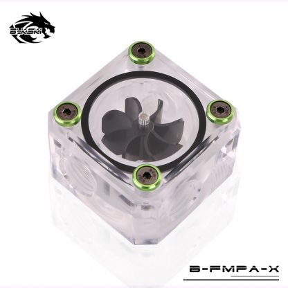 Bykski Acrylic Flow Meter G1/4 Thread Water Cooling System Coolant Filter Indicat Computer Cooler Fittings 3-Way holes B-FMpa-X