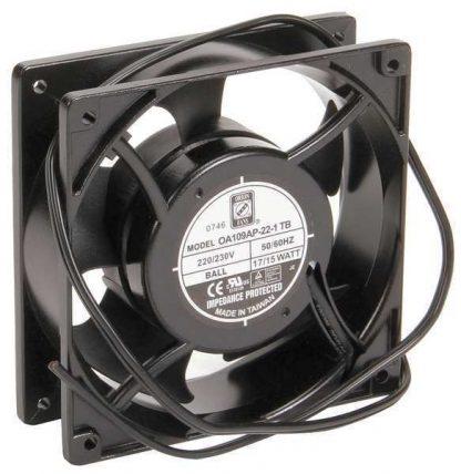 """Wiegmann 4-5/7"""" Square Axial Fan, 230VAC, WA4AXFN2"""