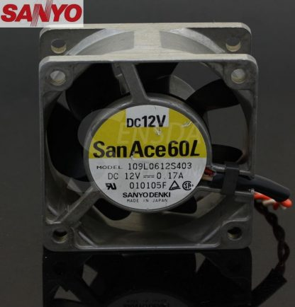 SANYO 109L0612S403 6025 60mm 6cm DC 12V metal frame server inverter axial cooling fans