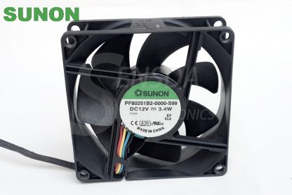 Original Sunon PF80251B2-0000-S99 12V 3.4W 8025 80mm 8cm PWM tempreture control axial cooling fans