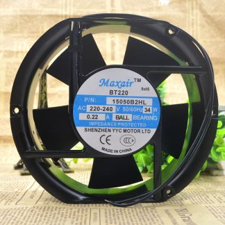 Maxair BT220 15050B2HL 220v-240v 34w 022A BALL BEAROMG Axial Cooling Fan