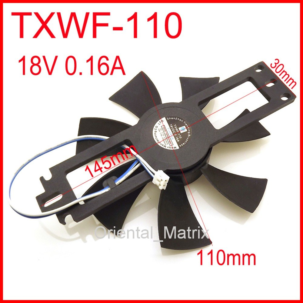 DC BRUSHLESS FAN TXWF-110 18V 0.16A For Induction Cooker Cooling Fan 2Pin