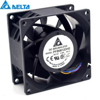 Delta PFB0812DHE 8CM  3.3A 12v 80 * 80 * 38mm Axial Cooling Fan