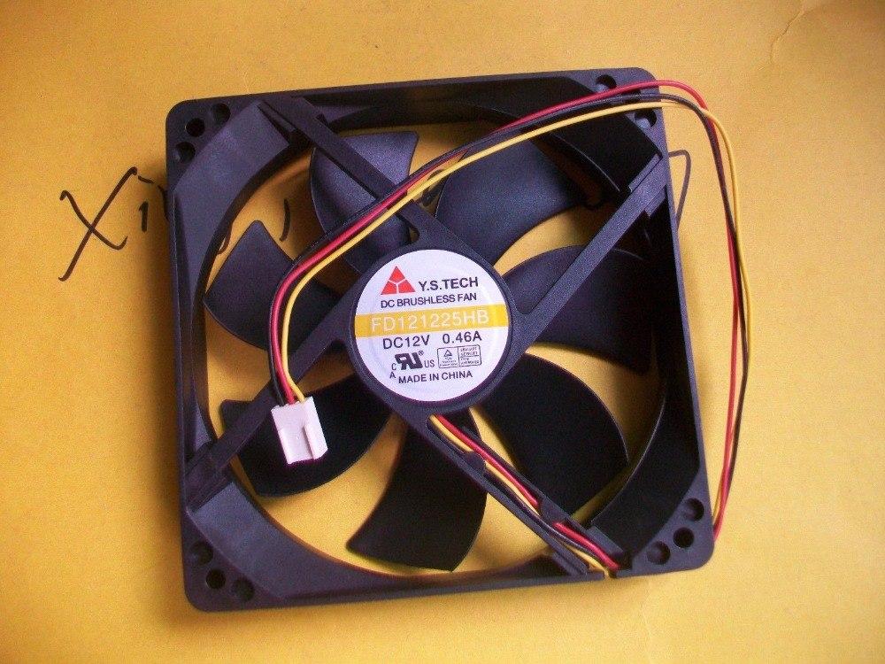 Y.S.TECH FD121225HB 12V 0.46A 12CM 125 3pin Chassis fan