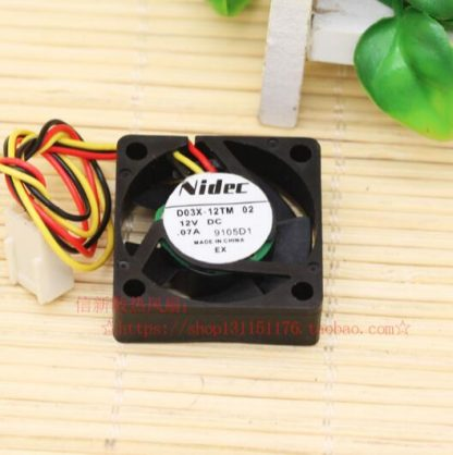 Nidec D03X-12TM 02 3 cm 12v 0.07a  wire set-top box routing chassis fan